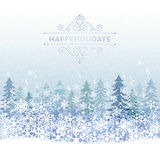 Winter Holiday background with blue snow scenery Royalty Free Stock Photos