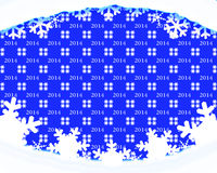 Winter holiday background 2014. Winter holiday background 2014-blue background with texture 2014. Drifts and snowflakes vector illustration