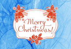 Winter holiday background with greeting text `Merry Christmas!`. Royalty Free Stock Photo