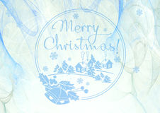 Winter holiday background with greeting text `Merry Christmas!`. Stock Image