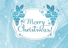 Winter holiday background with greeting text `Merry Christmas!`. Royalty Free Stock Photos