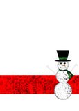 A winter holiday background with happy snowman Royalty Free Stock Photography