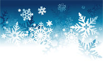 Winter holiday background with snowflakes Royalty Free Stock Photos