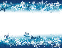 Winter holiday background with snowflakes Stock Photos