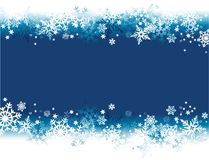 Winter holiday background with snowflakes Royalty Free Stock Images