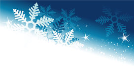 Winter holiday background with snowflakes Royalty Free Stock Photo