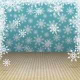 Winter holiday background with snowflakes Royalty Free Stock Photography