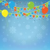 Winter holiday background. Stock Images