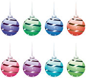 Winter holiday balls Stock Photography