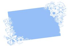 Winter holiday border Stock Photo