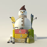 Winter holiday break Stock Image