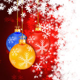Winter holiday christmas balls background Royalty Free Stock Photography
