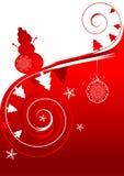 Winter holiday, christmas card Royalty Free Stock Photos