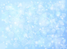 Winter Holiday christmas snow falling abstract background. Winter holiday blue snow falling background with sparkles and glitter. Christmas Abstract Backdrops Stock Photography