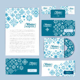 Winter holiday corporate identity Royalty Free Stock Image