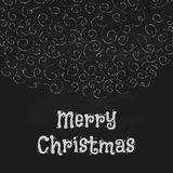Winter holiday design on chalkboard Royalty Free Stock Image