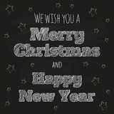 Winter holiday design on chalkboard Stock Images