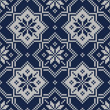 Winter Holiday Fair Isle Knitted Pattern. Knitted Sweater Design Stock Images