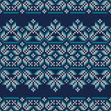 Winter Holiday Fair Isle Knitted Pattern Stock Image