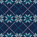 Winter Holiday Fair Isle Knitted Pattern. Vector Seamless Knitting Wool Texture Stock Photography