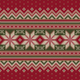 Winter Holiday Fair Isle Knitted Pattern. Vector Seamless Knitting Wool Texture. Knitted Sweater Design Royalty Free Stock Photo
