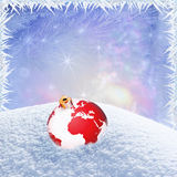 Winter holiday frame Stock Photos