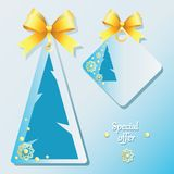 Winter. Holiday gift tags. vector illustration