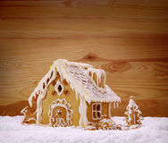 Winter Holiday Gingerbread house . Stock Images