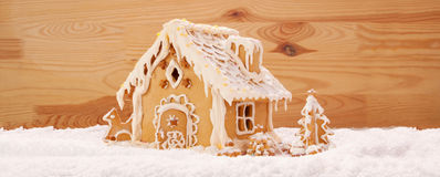 Winter Holiday Gingerbread house . Royalty Free Stock Images