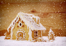 Winter Holiday Gingerbread house . Stock Photography