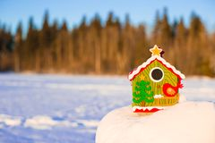 Winter Holiday Gingerbread house Stock Image