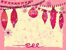 Winter holiday hand drawn background Stock Images