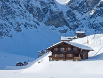 Winter holiday house Stock Photo