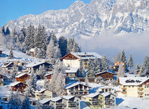 Winter holiday houses Stock Images