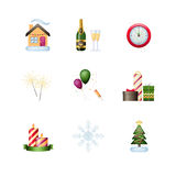 Winter Holiday icon set Stock Photo