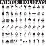 Winter Holiday Icons, Vector Royalty Free Stock Image