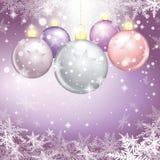 Winter holiday illustration of christmas balls. Stock Image