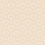 Winter Holiday Knitted Pattern with Hearts. Valentine`s Day Seamless Vector Background. Seamless Pattern on the Wool Knitted Texture. EPS available Royalty Free Stock Photos