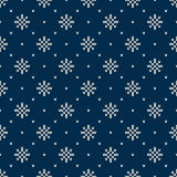 Winter Holiday Knitted Pattern with Snowflakes. Fair Isle Knitting Sweater Design. Seamless Christmas and New Year Background Stock Photography