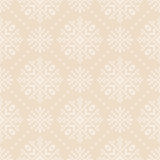Winter Holiday Knitted Pattern with Snowflakes. Fair Isle Knitting Sweater Design. Seamless Christmas and New Year Background Royalty Free Stock Photos