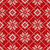 Winter Holiday Knitted Pattern with Snowflakes. Seamless Vector Stock Photos