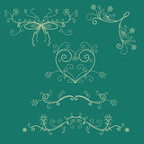 Winter holiday lace and borders Royalty Free Stock Photography