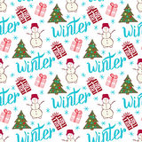 Winter holiday pattern. Cute new year seamless Royalty Free Stock Photography
