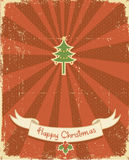Winter holiday postcard Royalty Free Stock Images