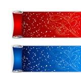 Winter holiday ribbons Royalty Free Stock Images