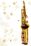 Winter Holiday Sax Stock Photography