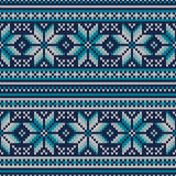 Winter Holiday Seamless Knitted Pattern. Fair Isle Sweater Desig Royalty Free Stock Photos