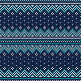Winter Holiday Seamless Knitted Pattern. Fair Isle Sweater Desig Stock Image