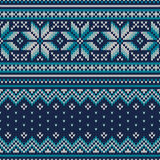 Winter Holiday Seamless Knitted Pattern. Fair Isle Sweater Desig Stock Photography
