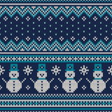 Winter Holiday Seamless Knitted Pattern. Fair Isle Sweater Desig Royalty Free Stock Photo